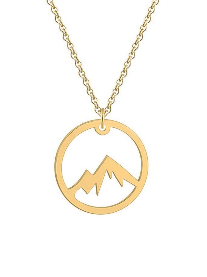 náušnice hory zlaté barvy