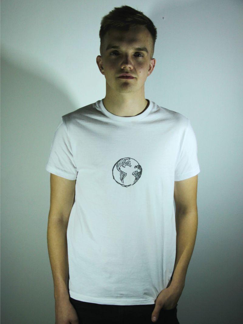 tričko unisex s motivem planety země
