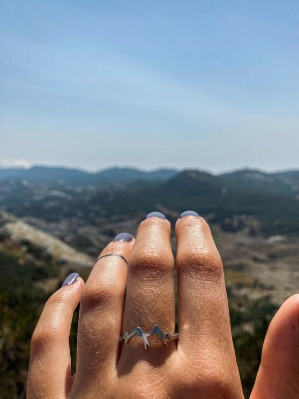 prstýnek hory stříbrný