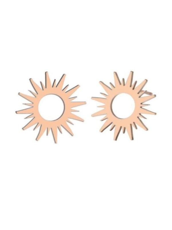 náušnice slunce zlatá